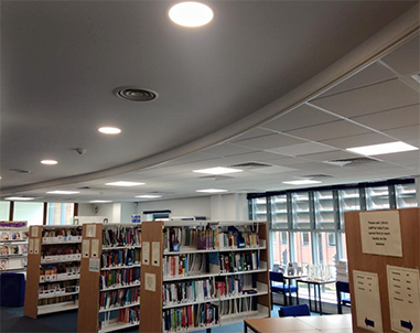 Full replacement of existing lighting for Northampton College